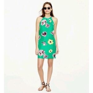 J Crew Factory Green Floral Dress Size 2